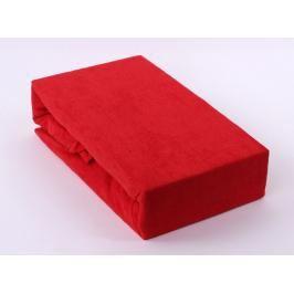 TP Froté prostěradlo Premium 190g/m2 90x200 Červená