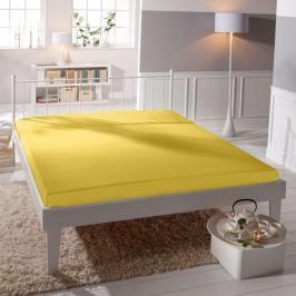 TP Jersey prostěradlo Premium 190g/m2 160x200 Žlutá