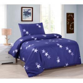 TOP Hebké povlečení 140x200+70x90 Blue stars