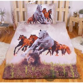 3D povlečení 140x200 + 70x90 - Divocí koně