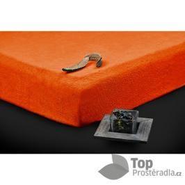 TP Froté prostěradlo (220 x 200) Premium - Oranžová