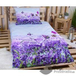 3D povlečení 140x200 + 70x90 - Violet Garden