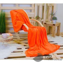TP Jemná deka 220x200 Oranžová Mikrovlákno