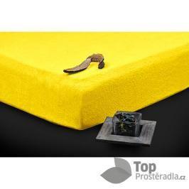 TP Froté prostěradlo Premium 190g/m2 90x200 Žlutá