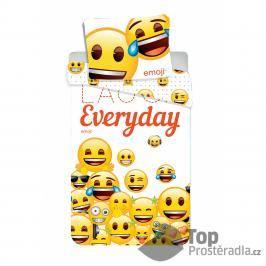 TOP Bavlněné povlečení 140x200+70x90 Emoji Smile Everyday