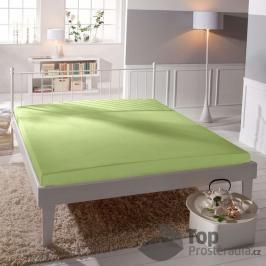 TOP Jersey prostěradlo lycra DeLuxe 170g/m2 90x200 Světle zelená