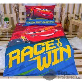 Dětské bavlněné povlečení 140x200 70x90 Cars winssvítící