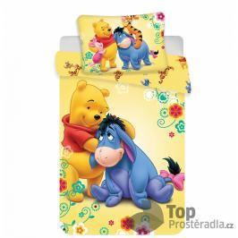 Dětské bavlněné povlečení medvídek PÚ s Ijáčkemr 100x135+40x60