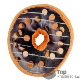 TOP Dekorační plyšový polštářek DONUT 40 cm Double Choco