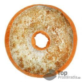 TOP Dekorační plyšový polštářek DONUT 40 cm Skořicový