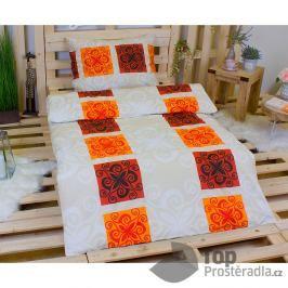 TOP Bavlněné povlečení 140x200 70x90 Orient oranžový