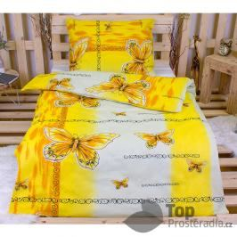 TOP Bavlněné povlečení 140x200 70x90 Yellow butterfly