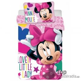 Dětské bavlněné povlečení Minnie little lady 100x135+40x60