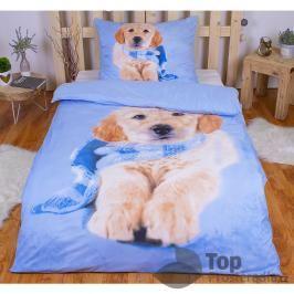 TOP 3D Povlečení 140x200 70x90 Puppy