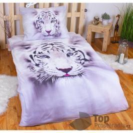 TOP 3D Povlečení 140x200 70x90 White tiger II