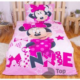 TOP Bavlněné povlečení 140x200+70x90 Minnie pink (ve tmě svítí)