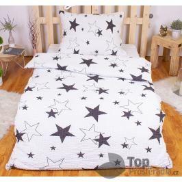 TOP Krepové povlečení PREMIUM 140x200+70x90 - White stars