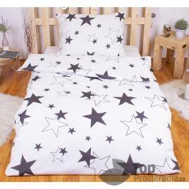 TOP Polybavlna povlečení PREMIUM 140x200+70x90 - White stars