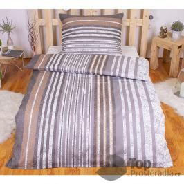 TOP Polybavlna povlečení PREMIUM 140x200+70x90 - Grey stripes