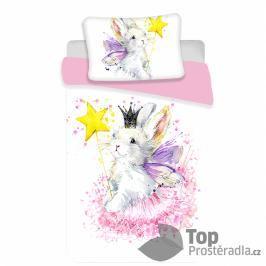 TOP Bavlněné povlečení do postýlky 100x135+40x60 Bunny white