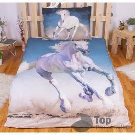 TOP Bavlněné povlečení 140x200+70x90 - White horse