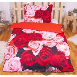 TOP 3D povlečení 140x200 70x90 Rose garden