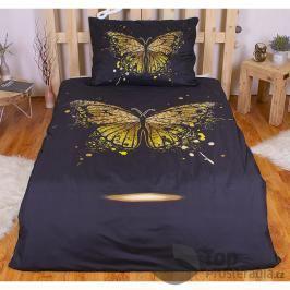 TOP 3D povlečení 140x200 70x90 Golden butterfly