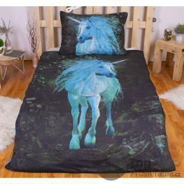 TOP 3D povlečení 140x200 70x90 Forest Unicorn