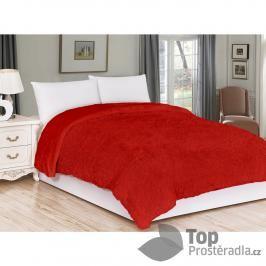 Luxusní deka s dlouhým vlasem 150x200 - Červená