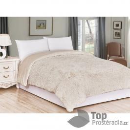 Luxusní deka s dlouhým vlasem 150x200 - Béžová