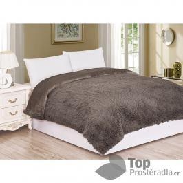 Luxusní deka s dlouhým vlasem 150x200 - Hnědá