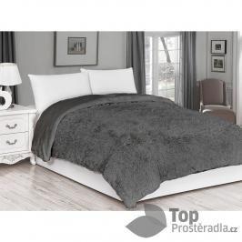 Luxusní deka s dlouhým vlasem 150x200 - Šedá