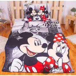 Povlečení z mikrovlákna 140x200 70x90 Mickey & Minnie v NY II
