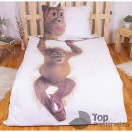TOP Bavlněné povlečení 140x200+70x90 - Orangutan