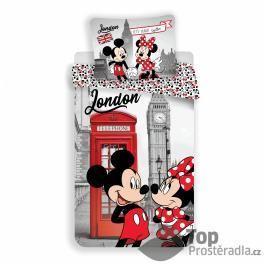 TOP Bavlněné povlečení 140x200+50x70 Mickey & Minnie in London Telephone