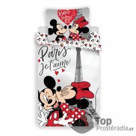 TOP Bavlněné povlečení 140x200+50x70 Mickey & Minnie Je T'aime paris