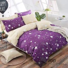 TOP Sedmidílná sada bavlněného povlečení 140x200+70x90 - Night sky purple
