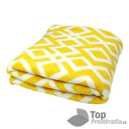 TP Mikroflanelová deka 150x200 Kosočtverce žluté