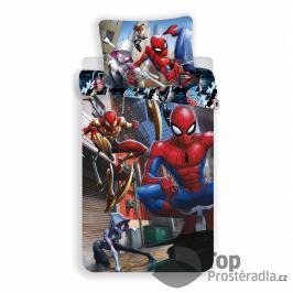 TOP Bavlněné povlečení 140x200+70x90 Spider-man Action