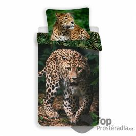TOP Bavlněné povlečení 140x200+70x90 Leopard Green