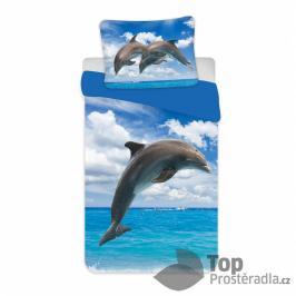 TOP Bavlněné povlečení 140x200+70x90 Delfín