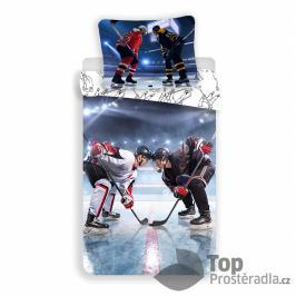 TOP Bavlněné povlečení 140x200+70x90 Lední hokej