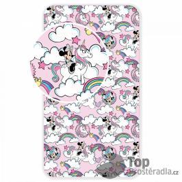 TOP Dětské bavlněné prostěradlo 90x200 Minnie Unicorn