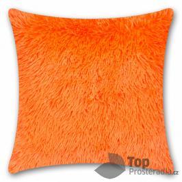 TOP Luxusní povlak na polštářek s dlouhým vlasem 40x40 - Oranžová