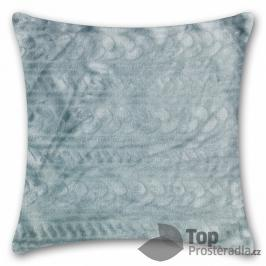 TOP Povlak na polštářek mikroflanel 40x40 - Světle šedý