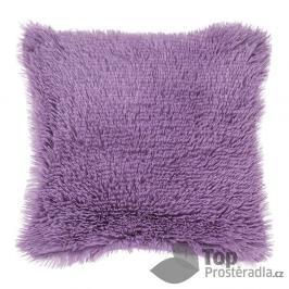 TOP Luxusní povlak na polštářek s dlouhým vlasem 40x40 - Fialová