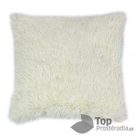 TOP Luxusní povlak na polštářek s dlouhým vlasem 40x40 - Krémová