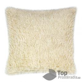 TOP Luxusní povlak na polštářek s dlouhým vlasem 40x40 - Béžová
