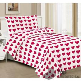 TOP Hebké povlečení 140x200+70x90 Red line of hearts
