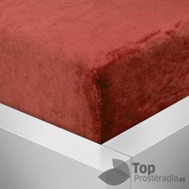 TOP Mikroflanelové prostěradlo 180x200 - Pompézní červená